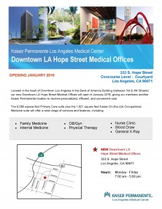 Downtown  LA Hope Street MOB - Flyer